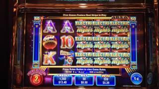 Quad Shot Progressive Electric Nights slot machine -10 FREE SPINS