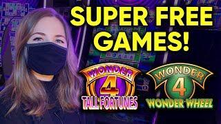 WILD PANDA SUPER FREE GAMES! All 3 Wild Symbols!! Wild Leprecoins Slot Machine! Awesome Win!!