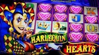 Harlequin Hearts Bonus BIG WIN + Live Bonus - 5c Aristocrat Video Slots
