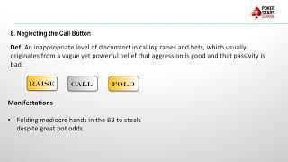 Poker Pitfalls - Episode 8, Neglecting The Call Button