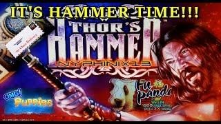 •NEW DELIVERY• Thor's Hammer MAX BET & More! Slot Bonus BIG WIN!!!