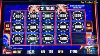 I continued to played only one machine•Final !! JACKPOT x 3 Times•HIGH STAKES - Bet $10 San Manuel