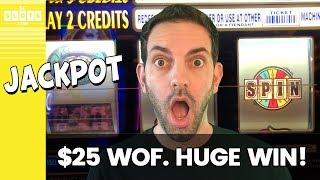• $25/Spin WOF JACKPOT! • HUGE WIN @ San Manuel • BCSlots #AD