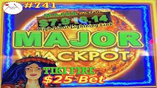 Massive Progressive Major Jackpot Handpay  High Limit Lightning Link TIKI FIRE Slot Live Win 赤富士スロット