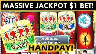 I GOT A MASSIVE JACKPOT HANDPAY ON $1 BET!!! LOCK IT LINK SLOT MACHINE WINNING!