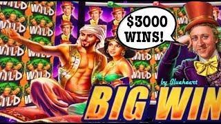 •ALL ABOUT WILDS!• WORLD of WONKA slot and ALADDIN'S FORTUNE 3D slot machine BONUS & MEGA WINS