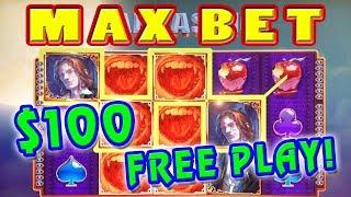 HOW MUCH DID I PROFIT? • $100 IN FREE PLAY • MAX BET BONUSES • VAMPIRES EMBRACE