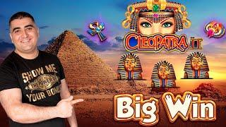 Cleopatra 2 Slot Machine Big Win w/ Max Bet Bonus - Amazing Comeback   Dancing Drums EXPLOSION Slot