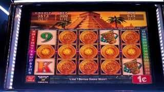 Konami - Mayan Chief Slot Machine Bonus - MAX BET!