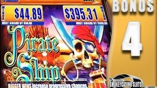 4 ~ Pirate Ship Slot Machine Bonus WMS