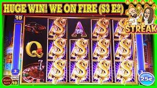WE ON FIRE HUGE WIN! HUSBAND vs WIFE CHALLENGE TURNING $1000 FREE PLAY INTO PROFIT  ( S3 Ep2 )
