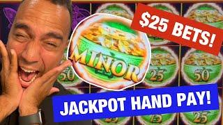 ⋆ Slots ⋆ $25 Bets on Mighty Cash = JACKPOT HANDPAY FIREWORKS at Cosmo Las Vegas!!