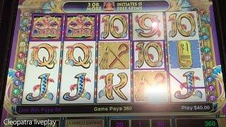 Cleopatra High Limit Slot LIVE PLAY Slots