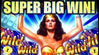•SUPER BIG WIN!• $5.00 MAX BET! WONDER WOMAN GOLDEN LASSO & SPIN IT GRAND Slot Machine Bonus REPOST