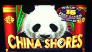 CHINA SHORES Slot machine HUGE WIN with Pirate's Loot Feature