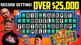 • Live Worlds Largest Group Pull $25000 Wheel of Fortune • $100 Per Pull  •