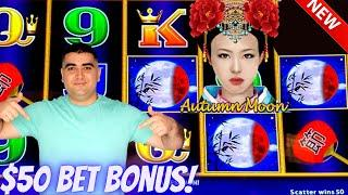 HIGH LIMIT Dragon Cash Slot Machine $50 Bet Bonus | Live Slot Play At Harrah's Casino In San Diego