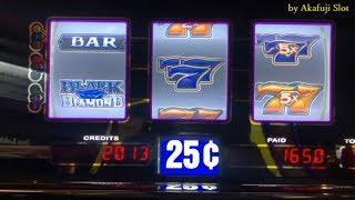 Winner - Quarter Black Diamond •@ San Manuel Casino ブラックダイヤモンド, 赤富士スロット, カリフォルニア カジノ, 米国
