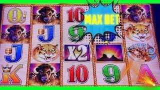 • BUFFALO GOLD • MAX BET $3 - $6 | BONUS | LIVE SLOTS PLAY •️ Deja Vu Slots