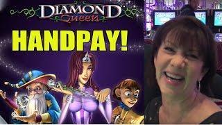 HANDPAY!  DIAMOND QUEEN SLOT MACHINE BONUS by Cathy