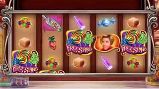 WILLY WONKA CANDY MAN CAN Video Slot Casino Game with a FREE SPIN BONUS