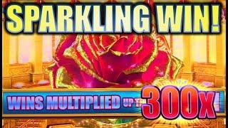 •NEW SLOT! A SPARKLING WIN SESSION!• SPARKLING ROSES MULTIPLIER BLAST Slot Machine Bonus (KONAMI)