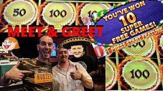 SUPER FREE GAMES• •Wonder 4 Tall Fortunes•Lighting Links next to Brian Christopher@ Meet&Greet