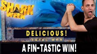 • A Fin-TASTIC Win on Shark Week • Fish Grab Bonus at San Manuel Casino