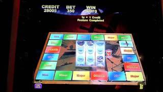 Jaws slot machine video bonus win at Parx Casino