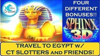 SPHINX 3D Slot Machine - Bonuses w/ Friends - Big Win!