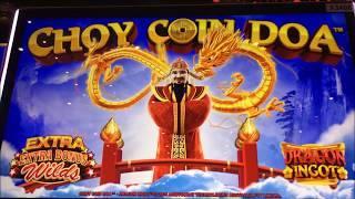 •BIG WIN•CHOY COIN DOA Slot machine (Aristocrat) Live Play and Big win Bonus•彡@ San Manuel Casino 栗