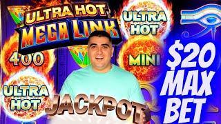 HANDPAY JACKPOT On High Limit Ultra Hot Mega Link Slot -$20 Max Bet | Las Vegas Casino JACKPOT