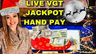 VGT JACKPOT HAND PAY CAUGHT LIVE ON •CRAZY CHERRY• •••MERRY CHRISTMAS TO ME!••