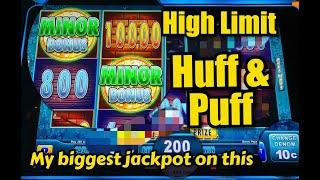 HUFF & PUFF ★ Slots ★ HIGH LIMIT- My Biggest Handpay on it