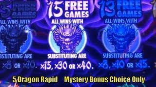 •FINALLY SUPER BIG WIN !! Mystery Bonus Choice Only ! •5 DRAGONS RAPID Slot machine•栗スロ•