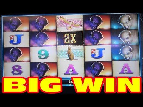 BIG WIN - Double Buffalo Spirit - Slot Machine BONUS