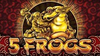5 Frogs Slot - NICE WIN - SUPER FEATURE BONUS!