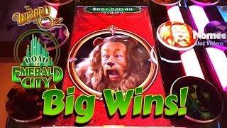 Road to Emerald City Slot Machine - Cowardly Lion Bonuses - Big Wins!