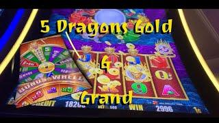 5 Dragons Gold & Grand - bonuses plus Live play