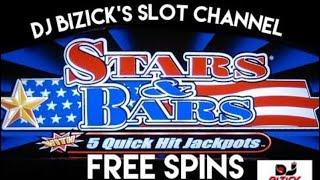 MAX BET MAX SPINS•STARS & BARS ~ QUICK HIT SLOT MACHINE •