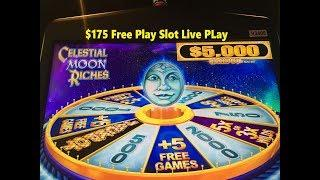 •NEW GAME !•FREE PLAY Slot Live ! How was result on FP?•CELESTIAL MOON RICHES Slot (KONAMI) $4.00•彡