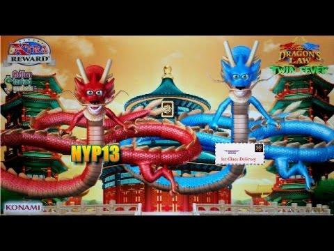 •NEW DELIVERY• Konami | Dragon's Law Twin Fever Slot Live Play Bonus & Line Hits