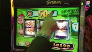 RARE MR. SLATE 50X WIN - Flinstones 3 reel slot