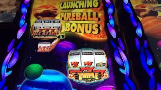 Fireball II After Burn Slot Bonus-Big Win- Bally Technologies
