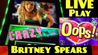 NEW! BRITNEY SPEARS slot machine LIVE PLAY and BONUS WINS!