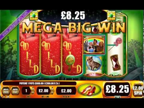 £600 ON WIZARD OF OZ - RUBY SLIPPERS™ MEGA BIG WIN (300 X STAKE) - SLOTS AT JACKPOT PARTY