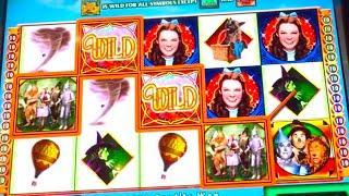"BIG WIN! / LIVE PLAY: ""WIZARD OF OZ"" Original Slot Machine (MAX BET!)"