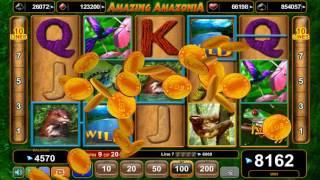 Amazing Amazonia casino slots - 11,870 win!