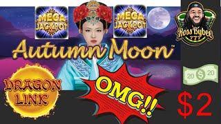 Dragon Link Autumn Moon Spin Along Session TURBO SPINS $2 DENOM MEGA JACKPOT