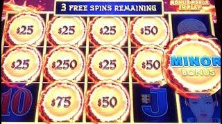 DRAGON LINK AUTUMN MOON ~ HANDPAY & High Limit Bonuses ~ $25 Every Spin ~ Zeus Bonus